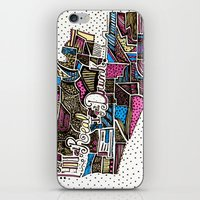 drunk iPhone & iPod Skins featuring drunk by Mariana Beldi