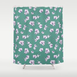 Mom's Orchids (Green) Shower Curtain