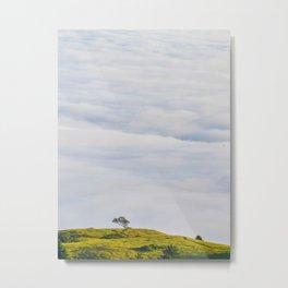 Minimalist Landscape Hills In The Sky Metal Print