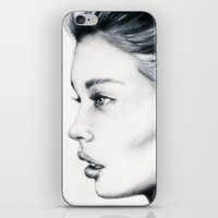 grace iPhone & iPod Skins featuring Grace by Bella Harris
