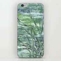grass iPhone & iPod Skins featuring GRASS by AMULET