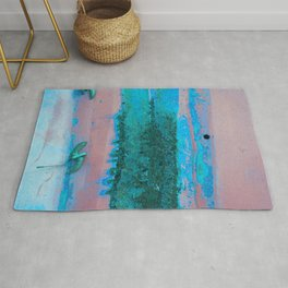 Rusted Middle Mauve and Turquoise Rug