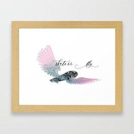 Skate or Fly Framed Art Print
