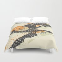 paramore Duvet Covers featuring Dj's Lightning by Sitchko Igor