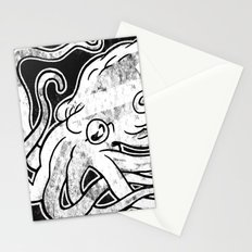 Octopus Print Stationery Cards