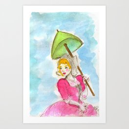 the fair Katrina Art Print