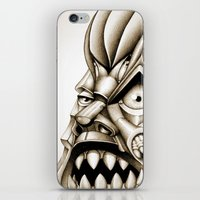 evil eye iPhone & iPod Skins featuring Evil Eye by Drugfreedave