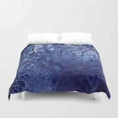 Disintegration in Blue Duvet Cover