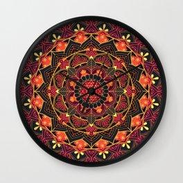 Midnight Rose Mandala Wall Clock