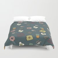 cafe Duvet Covers featuring 70S Cafe by Calepotts