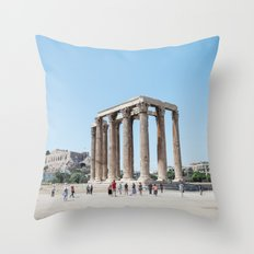 The temples of Athens Throw Pillow