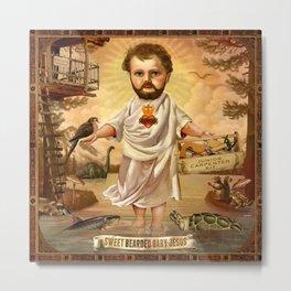 Sweet Bearded Baby Jesus Metal Print
