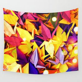Senbazuru | purples n yellows Wall Tapestry