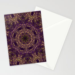 Purple Mandala Hippie Pattern Stationery Cards