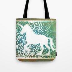 Unicorn Drawing Meditation - Stencil Print #1 Tote Bag
