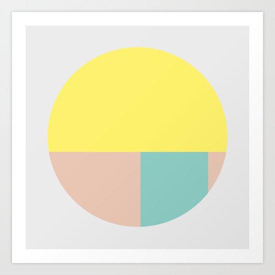 Pastel collection I Art Print