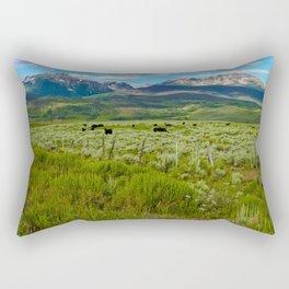 Colorado cattle ranch Rectangular Pillow
