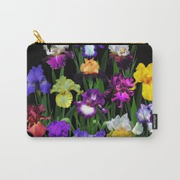 Iris Garden - on black Carry-All Pouch