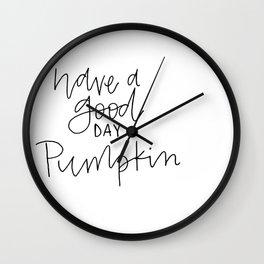 pumpkin thin Wall Clock