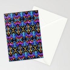 Dramatic Damask Stationery Cards