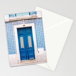 The blue door of Lisbon | Portugal fine art travel photography print Stationery Cards