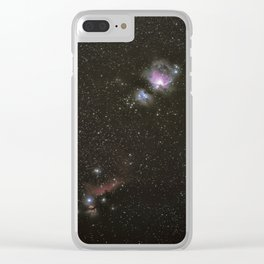 Orion horsehead running man and flame nebula Clear iPhone Case