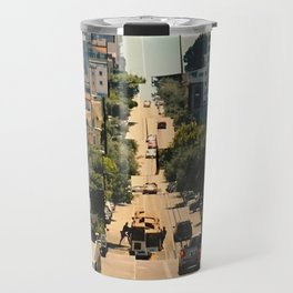 It's a Cubist's World Travel Mug