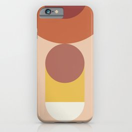 Geometric shapes terracotta IV iPhone Case