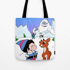 Hanging with Rudolph Tote Bag