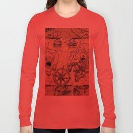 Old Nautical Map Long Sleeve T-shirt