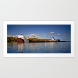 Roger Blough freighter in the Fall Art Print