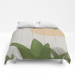 Aloe and moon Comforters