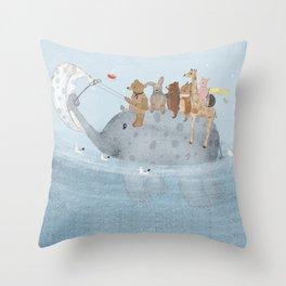 to the ocean Throw Pillow