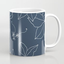 Drawings from Stonecrop Garden, Pattern in Navy Coffee Mug