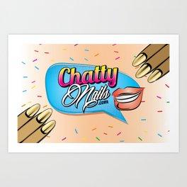 Chatty Nails Purse Art Print
