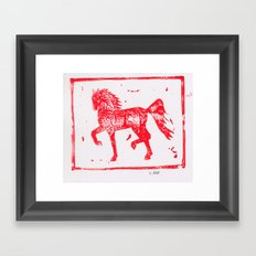 2014 Year of the Horse 2 Framed Art Print