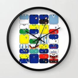 World In Motion III Wall Clock