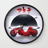 akira Wall Clocks featuring AKIRA by vsMJ
