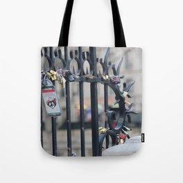 Paris Love Locks Tote Bag