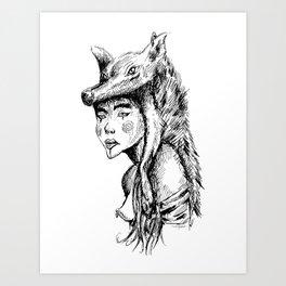 Wolfgirl Art Print