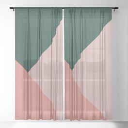 Geometric Summer Delight #1 #minimal #decor #art #society6 Sheer Curtain