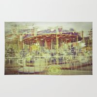 carousel Area & Throw Rugs featuring Carousel  by Amber Hakim