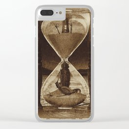 Sands of Time ... Memento Mori - Sepia Clear iPhone Case