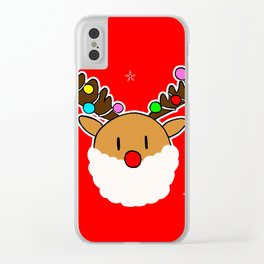 rudolph coming to town Clear iPhone Case
