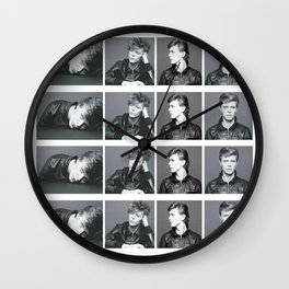 Monochrome Magnificence: Bowie Wall Clock
