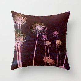 day glo: cosmic florals Throw Pillow