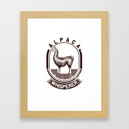 Alpaca whisperer! Framed Art Print