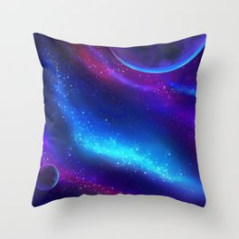 Mystic Magic Universe Throw Pillow