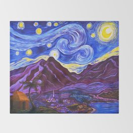 Maui Starry Night Throw Blanket