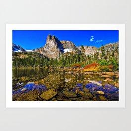 Notchtop Mountain Art Print